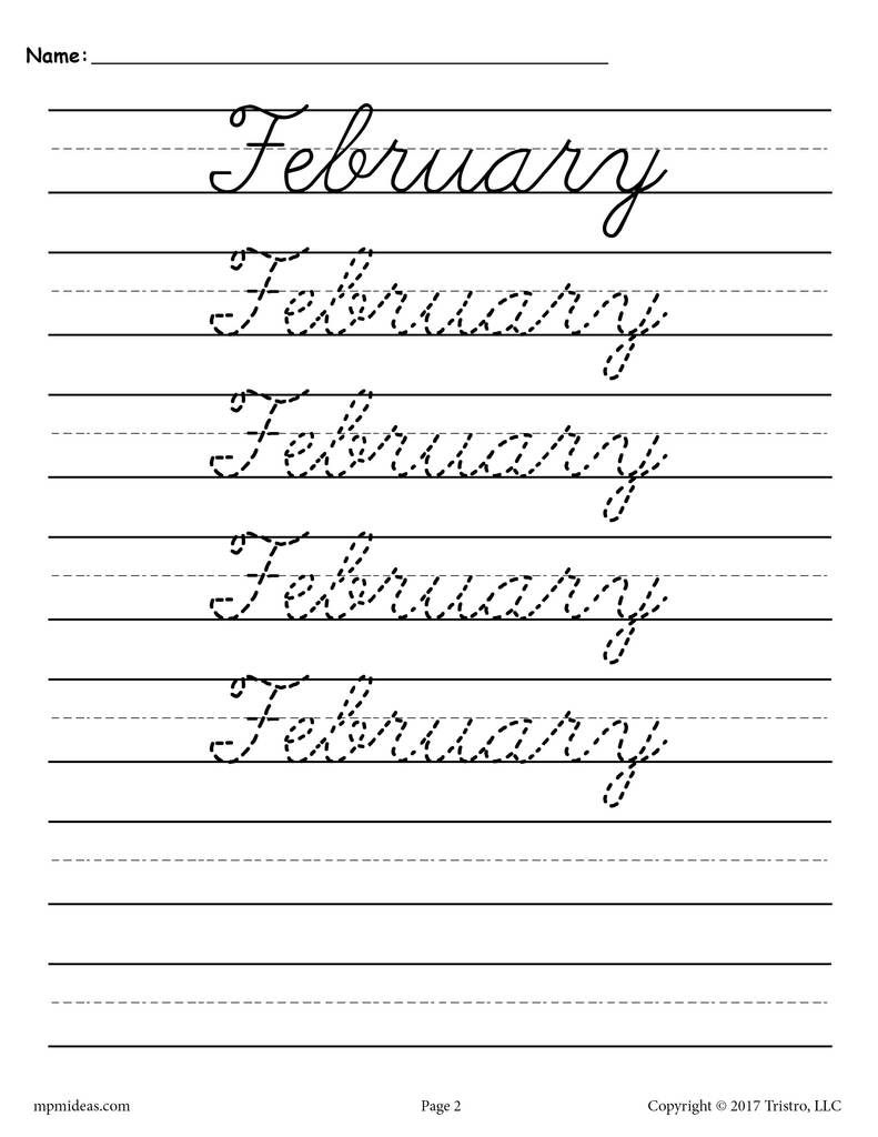 Practice Writing Your Name In Cursive Worksheets