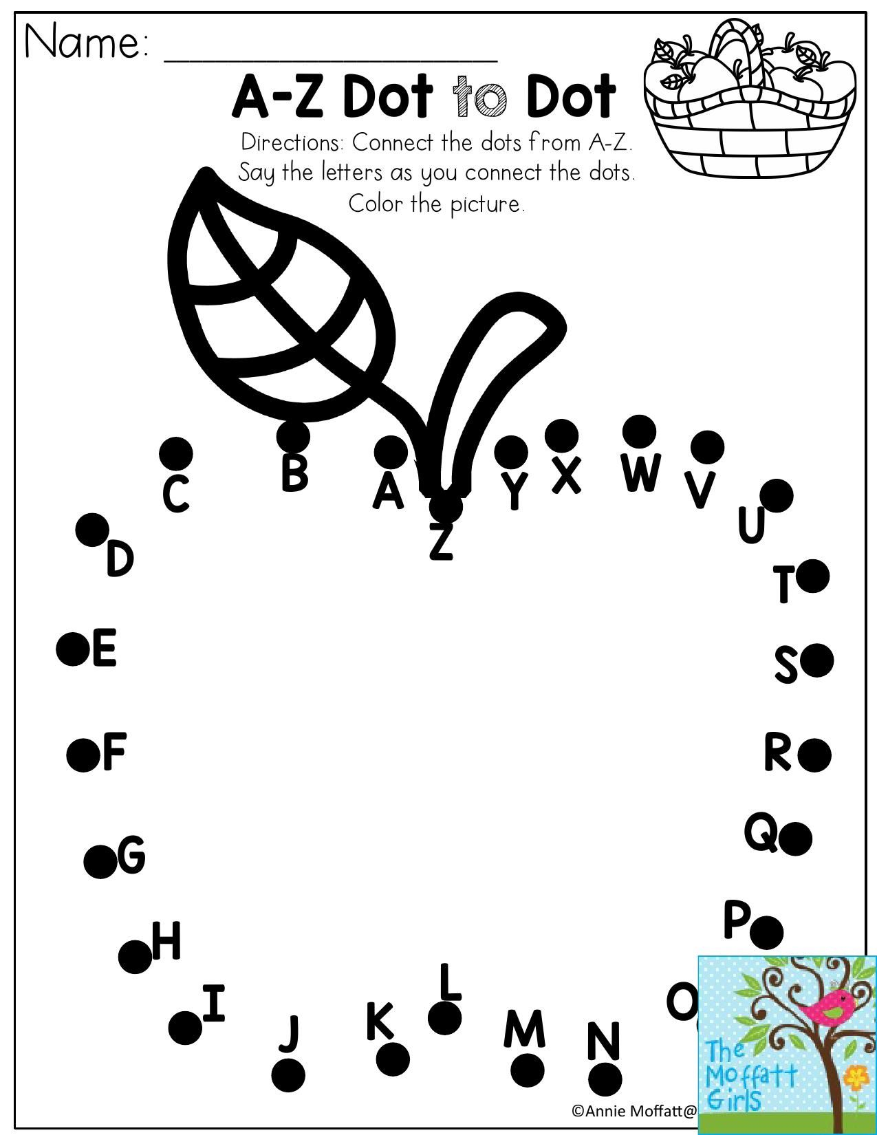 A-Z Dot To Dot- Connect The Dots From A-Z. Perfect For A