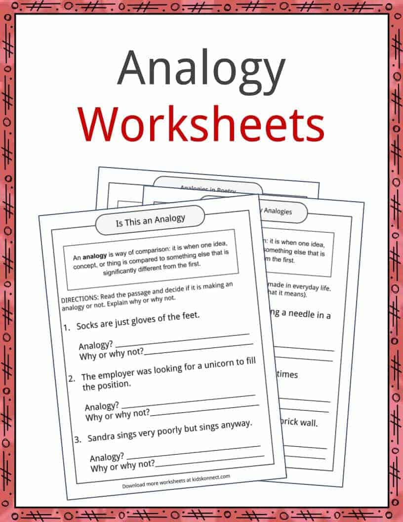 Analogy Examples, Definition And Worksheets | Kidskonnect