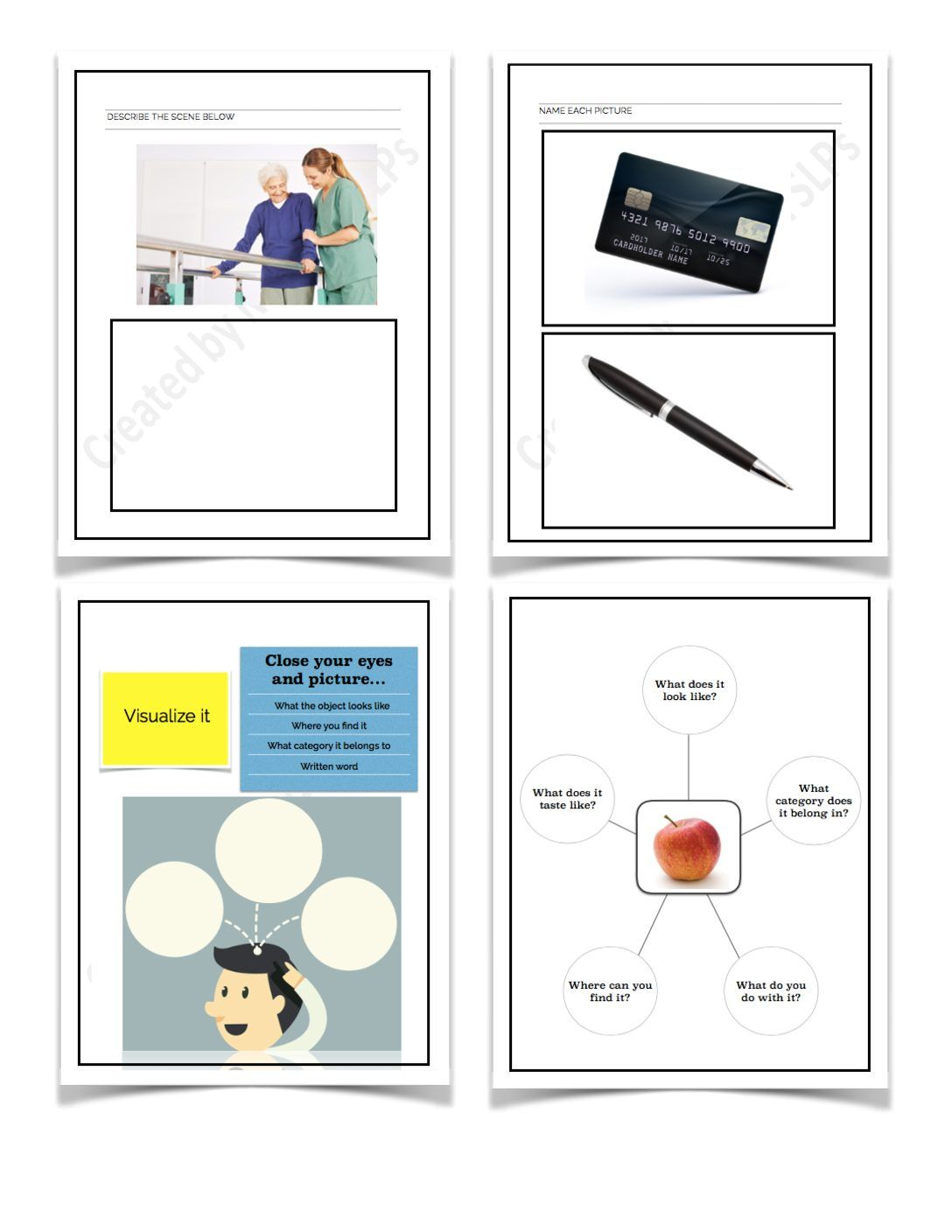 Aphasia Therapy Workbook In 2020 | Aphasia Therapy, Speech
