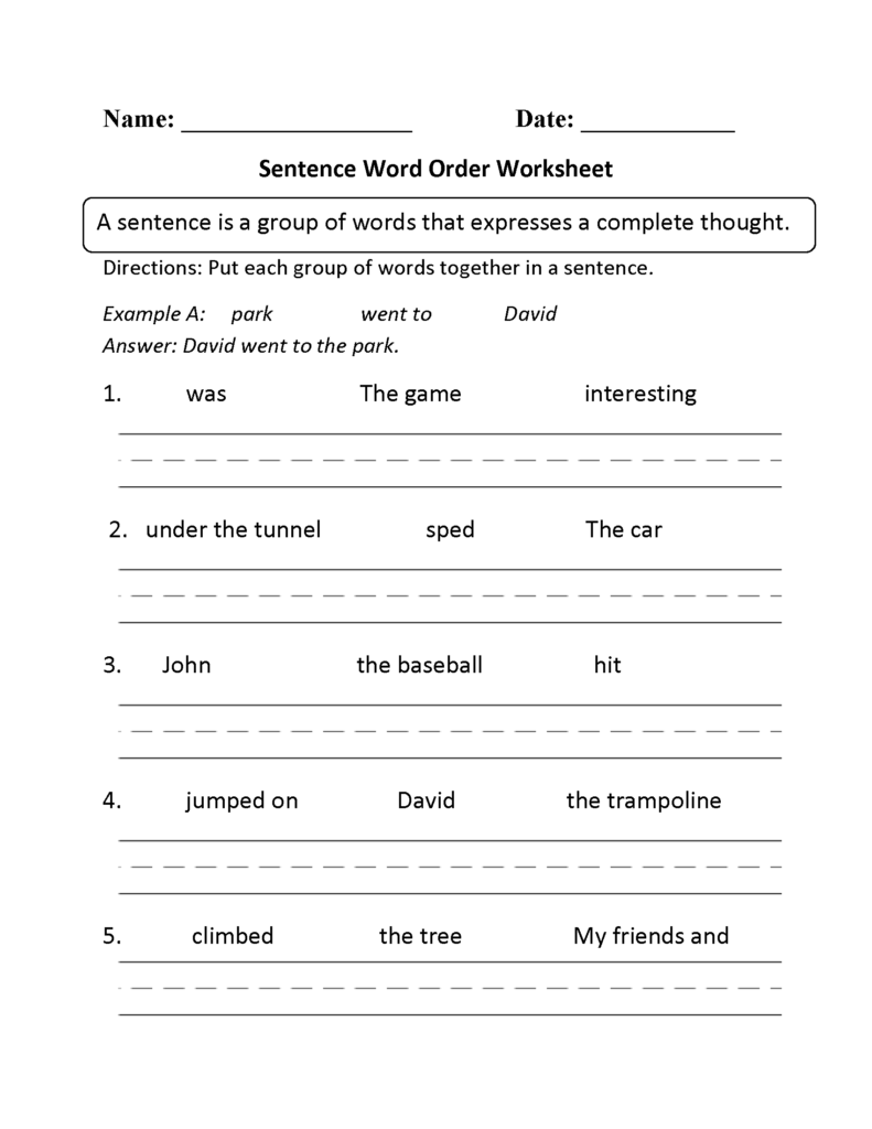 Beginner Sentence Building Worksheets Here Is A Graphic