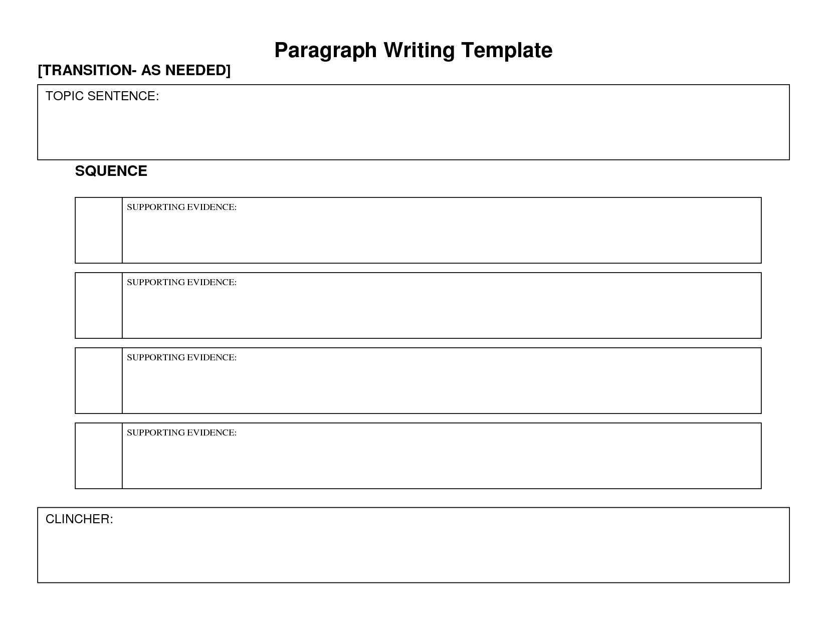 Body Paragraph Graphic Organizer | Paragraph Writing