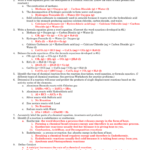 Chemical Equations Test Review  Key