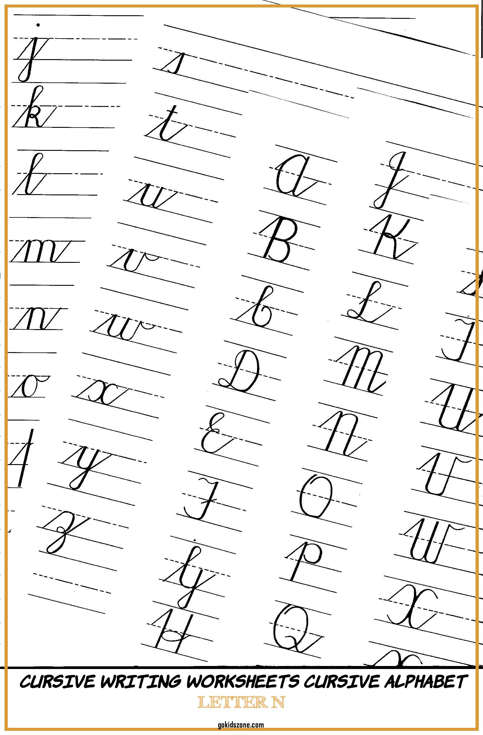 Coloring Book Tracing Worksheets For Cursive Writing Letter