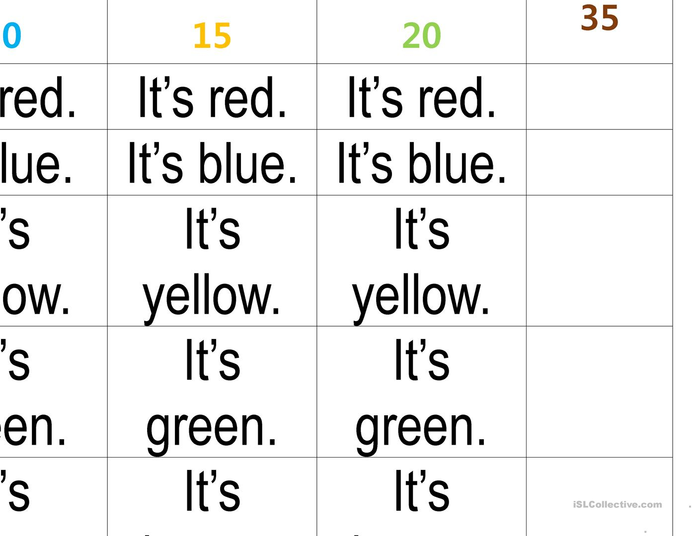 Colors Writing Practice - English Esl Worksheets For