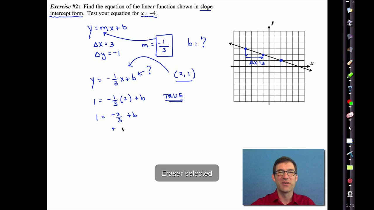 Common Core Algebra I.unit #4.lesson #5.writing Equations Of Lines