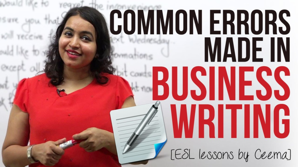 Common Errors Made In Business Writing ( Business Emails & Letters)    Business English Lesson