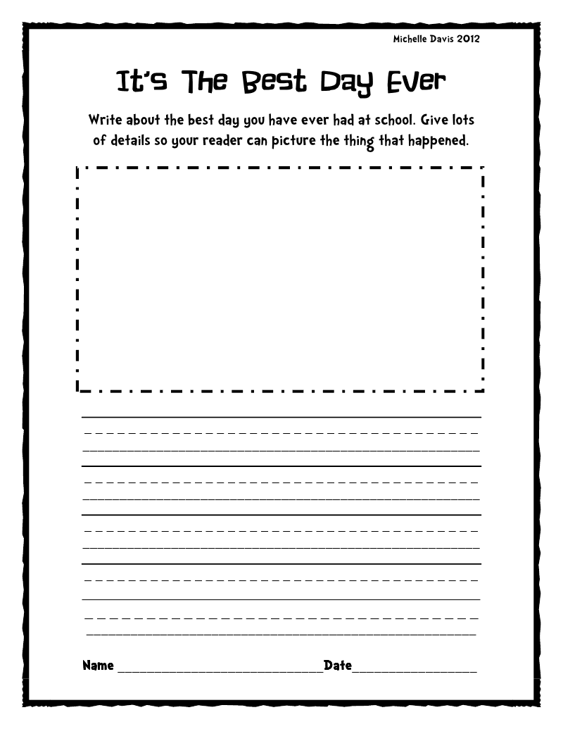 Writing Prompts Worksheets For Second Grade