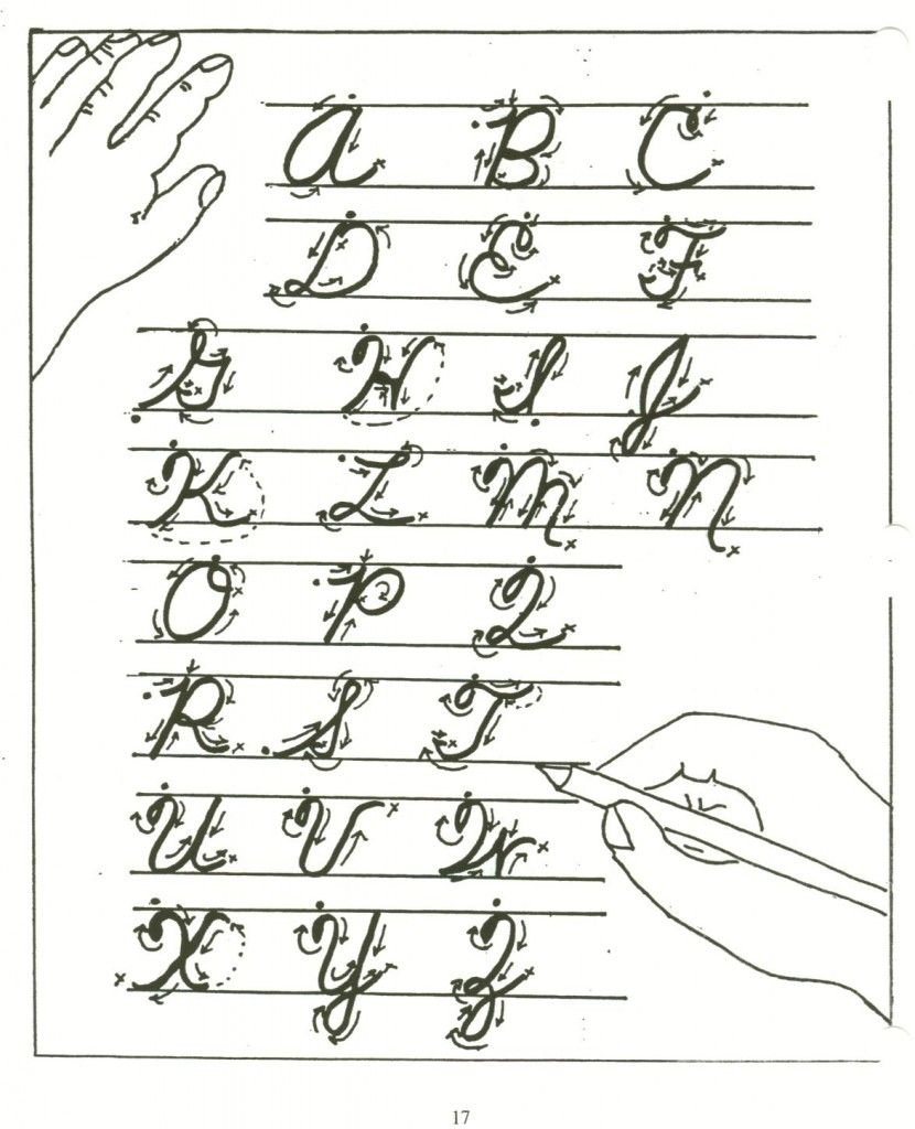Cursive Letters A-Z's Handwriting | Learning Cursive
