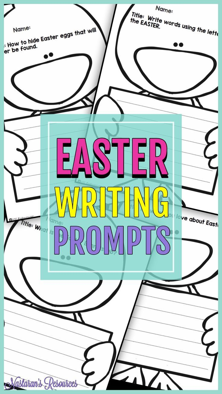 Easter Creative Writing Prompts Contains Eight Worksheets