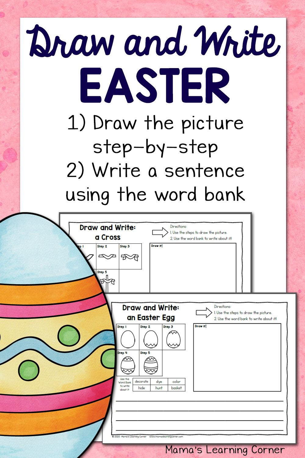 Easter Directed Draw And Write Worksheets - Mamas Learning