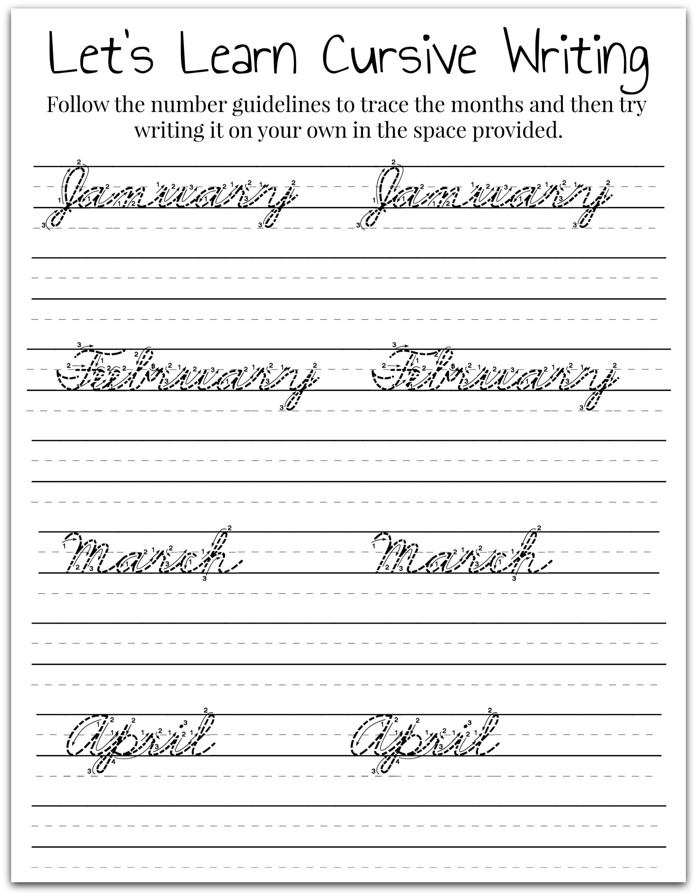 Extraordinary Tracing Cursive Writing Worksheets Picture