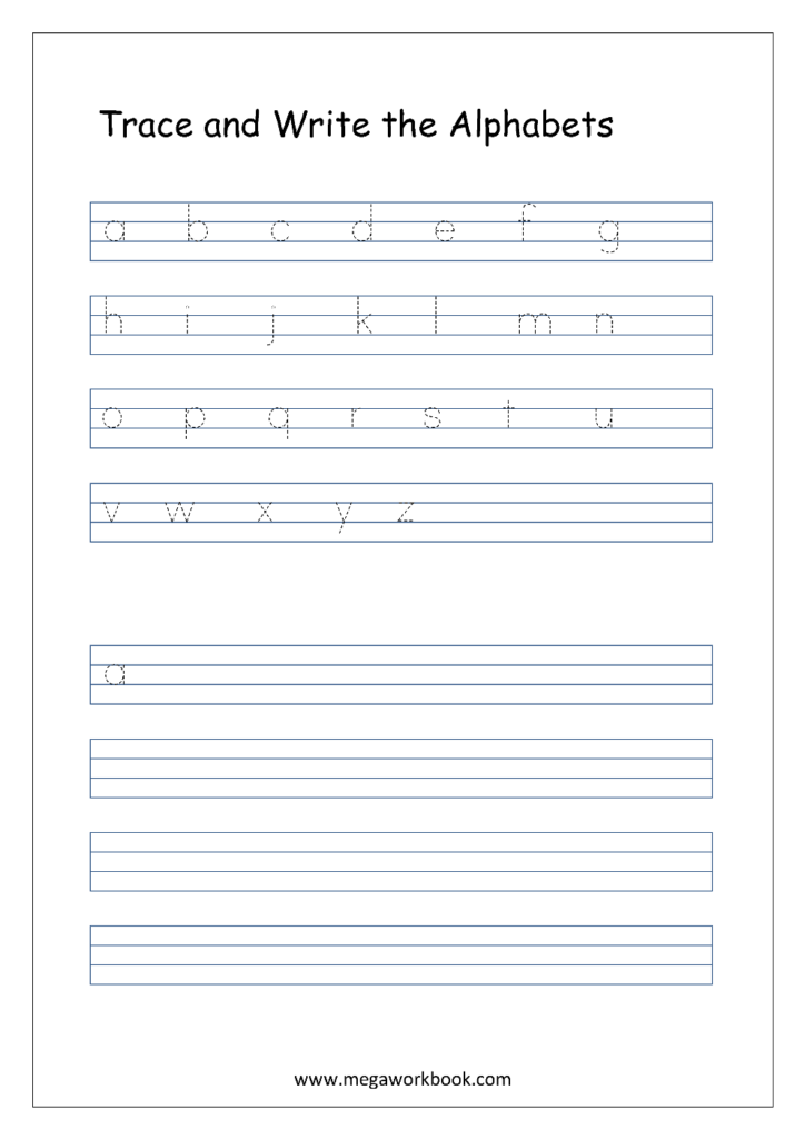 Free English Worksheets   Alphabet Writing (Small Letters