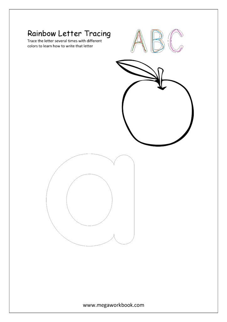 Free English Worksheets   Rainbow Letter Tracing | Tracing