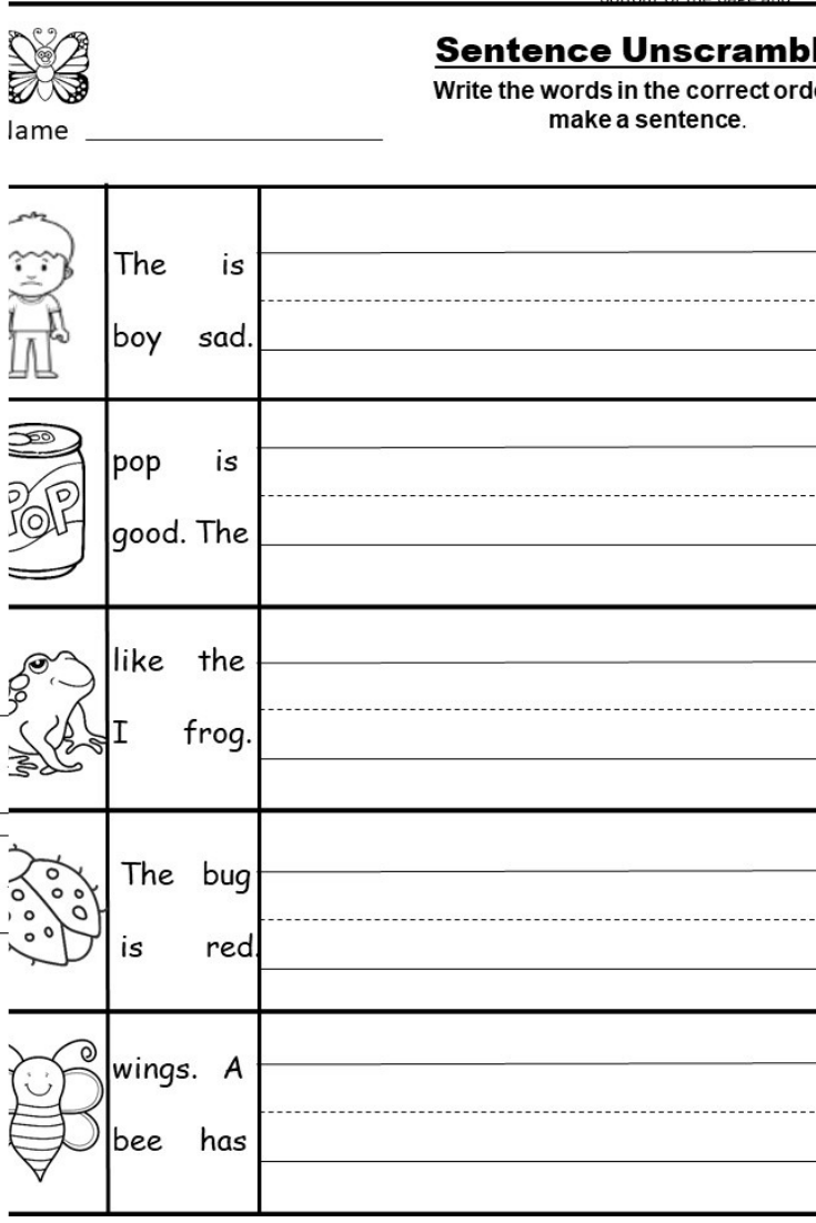 Beginning Writing Worksheets For Toddlers