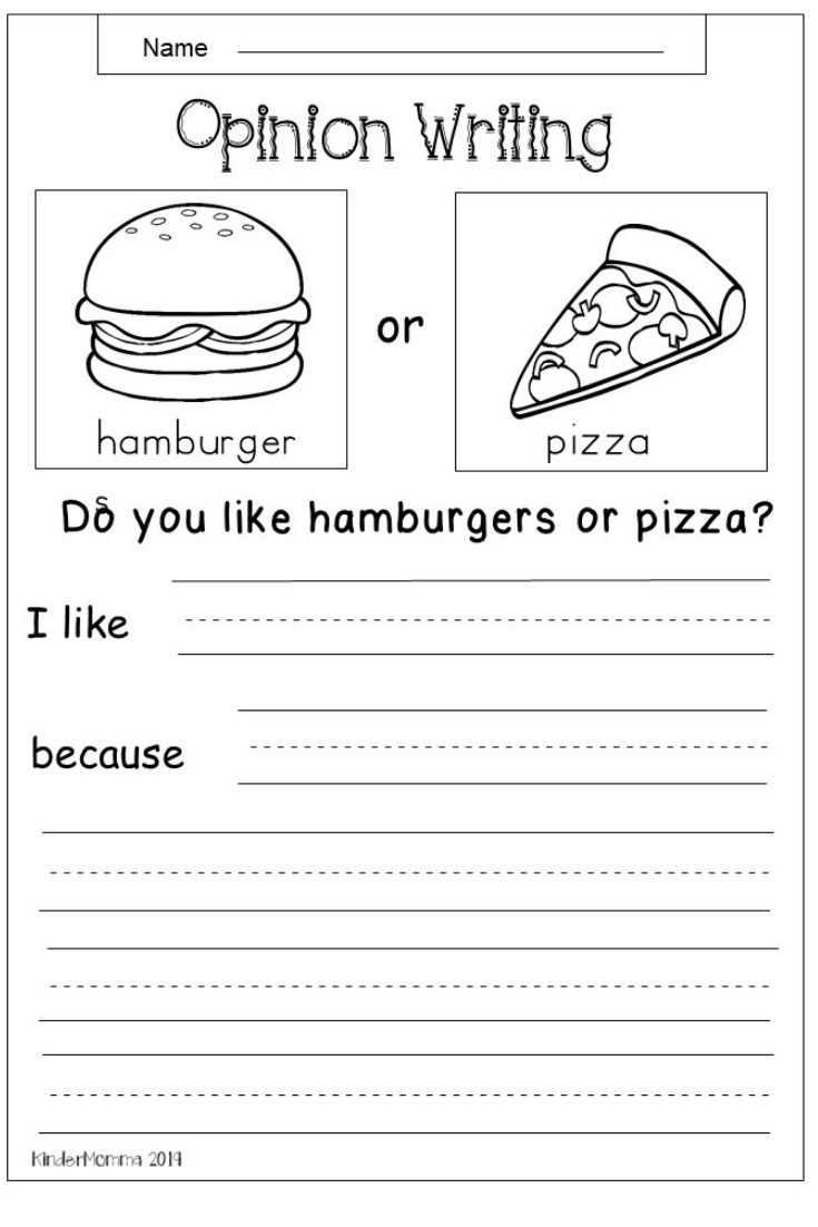 Opinion Writing Worksheets