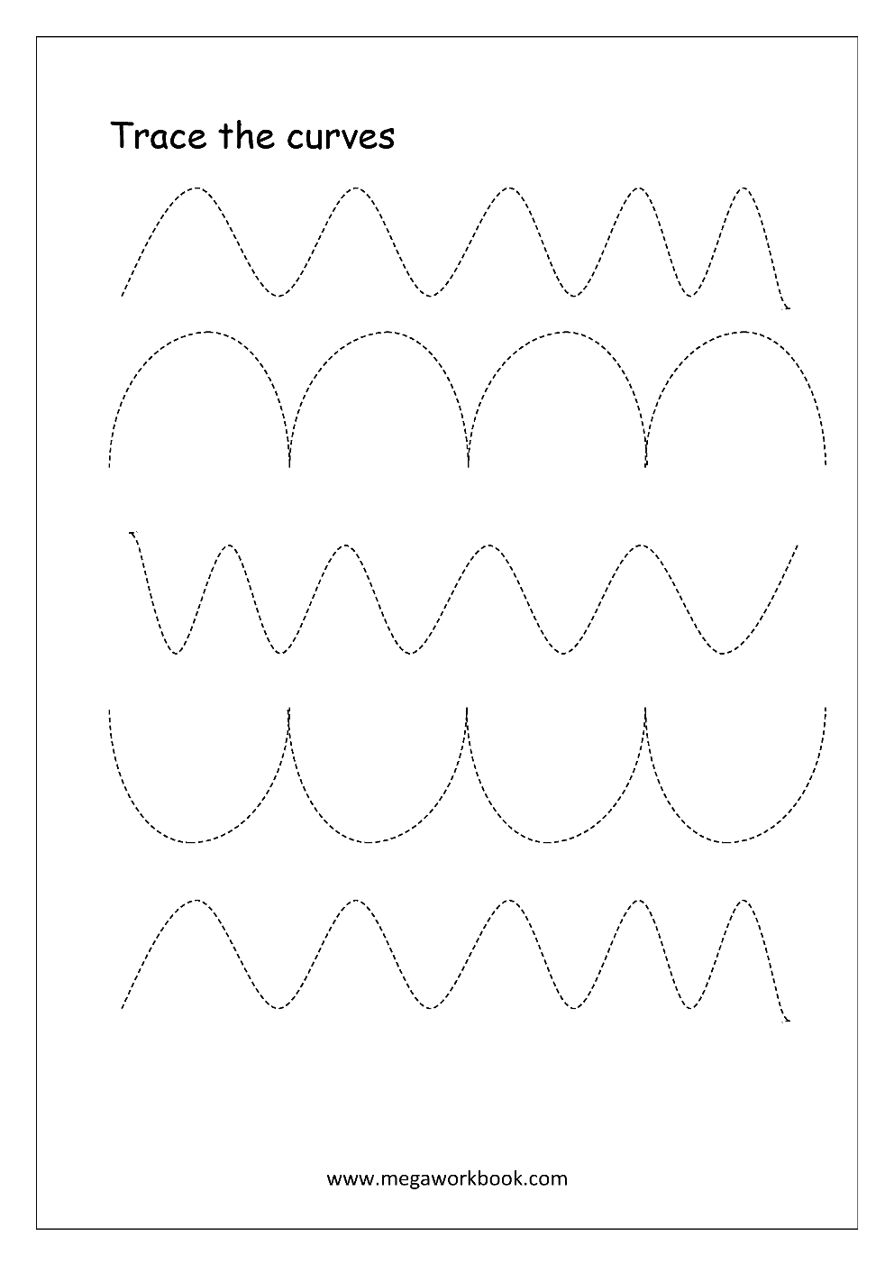 Free Printable Pre-Writing Tracing Worksheets For