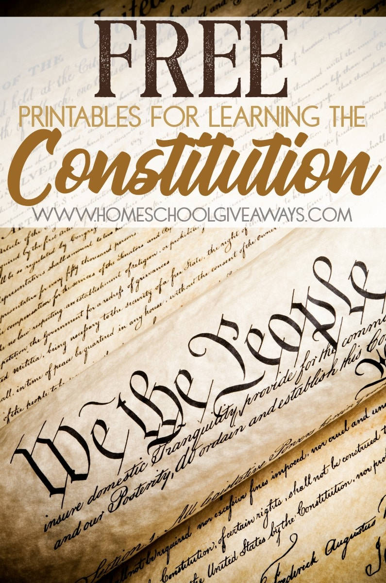 Free Printables For Learning The Constitution (Free Instant