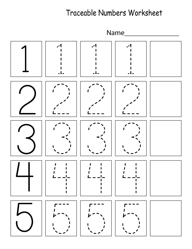Fun Tracing Number Worksheets For Kids | Learning Printable
