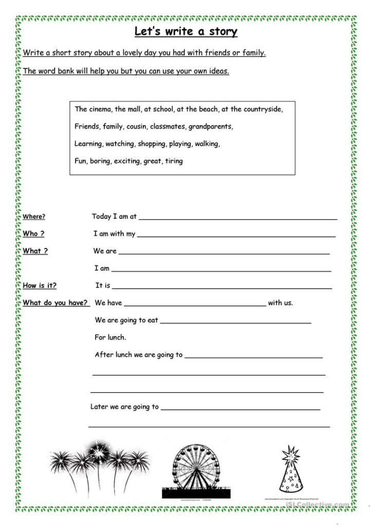 Let's Write A Short Story   English Esl Worksheets For