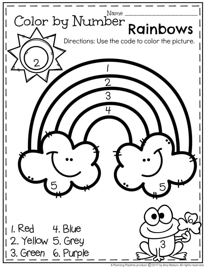 March Preschool Worksheets Planning Playtime Free Check