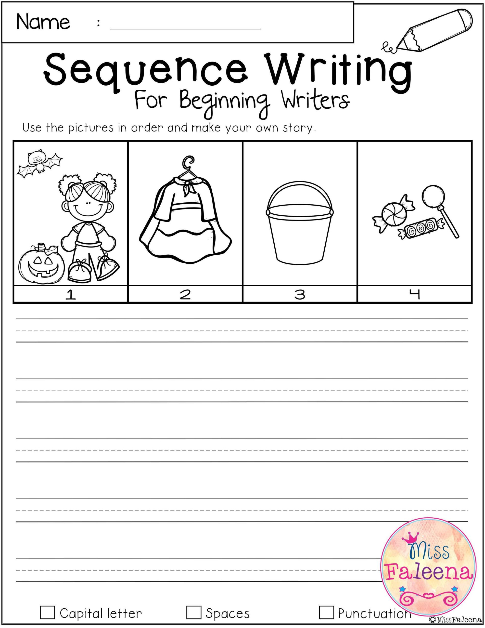October Sequence Writing For Beginning Writers With Images