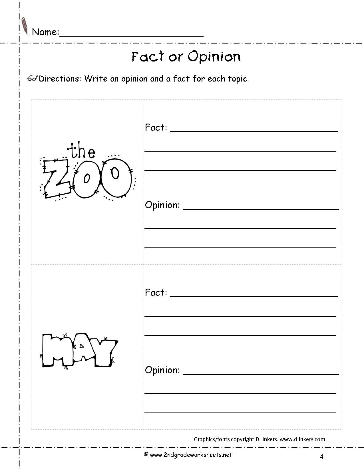 Opinion Writing Worksheets For 4Th Grade