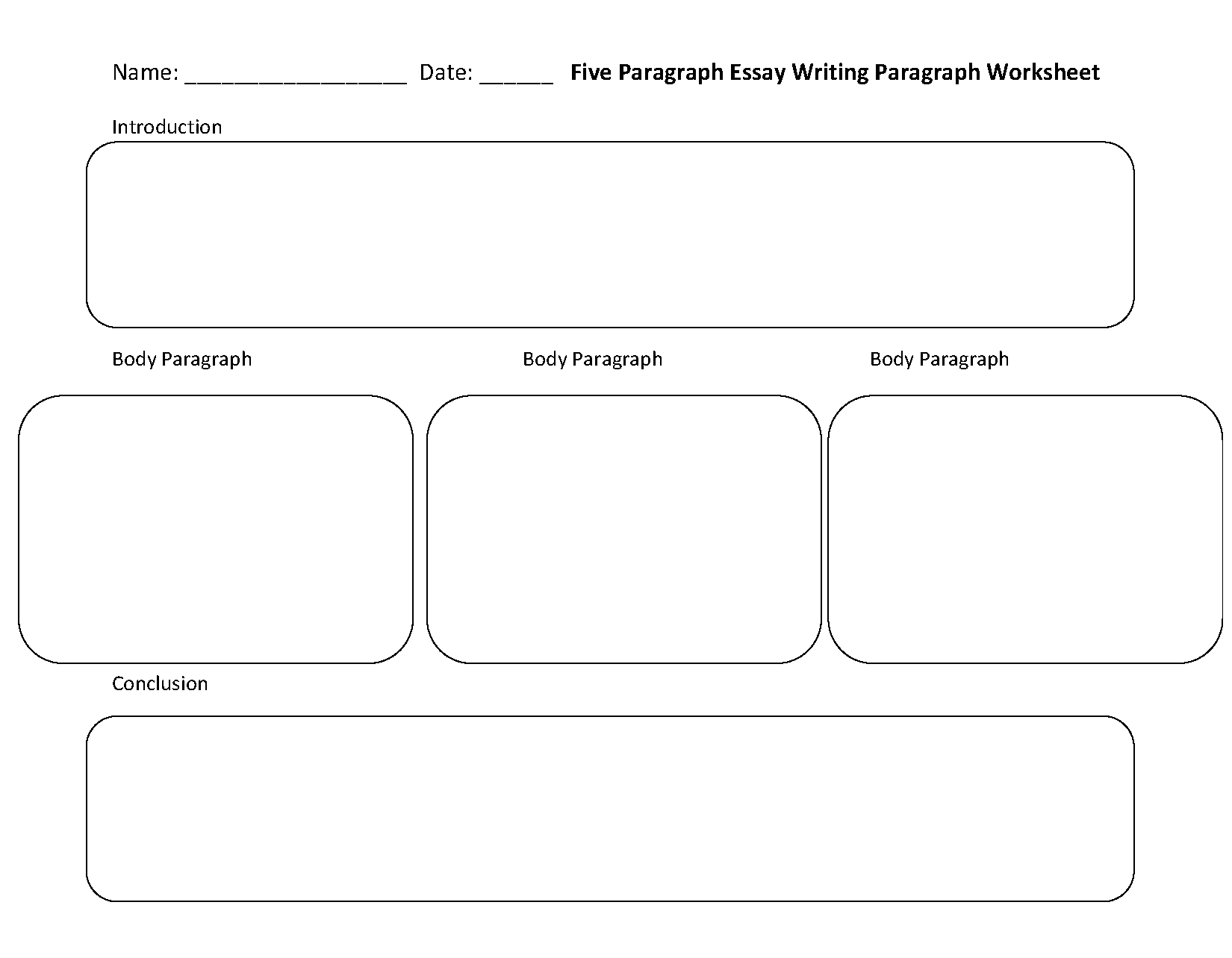 Paragraph Writing Worksheets | Five Paragraph Essay Writing
