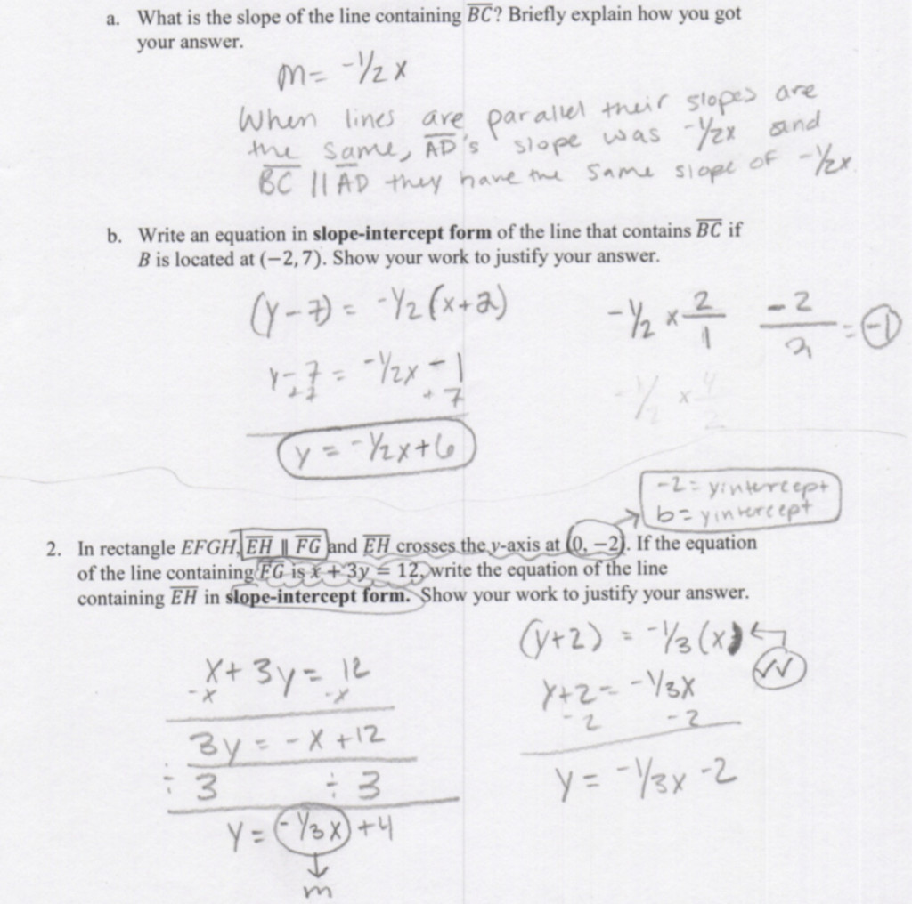 Parallel And Perpendicular Lines Worksheet With Answers