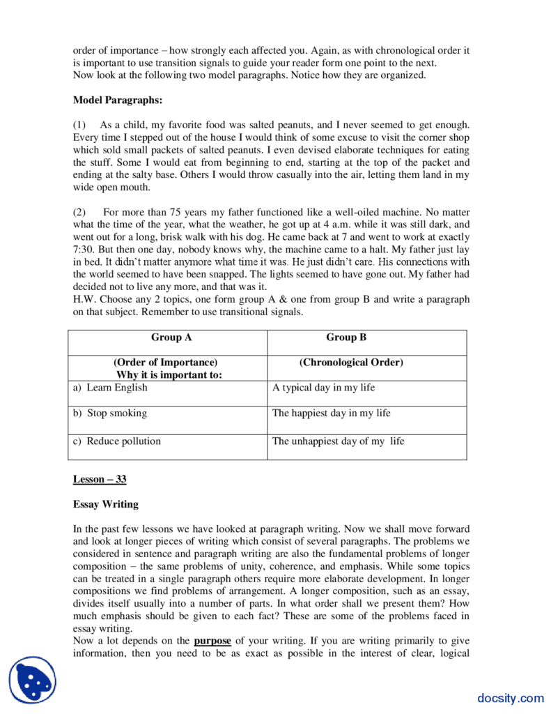 Part 21, Model Paragraphs Business Communication And English