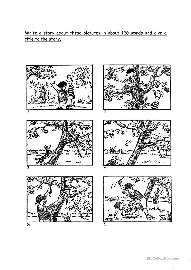 Picture Composition - English Esl Worksheets For Distance