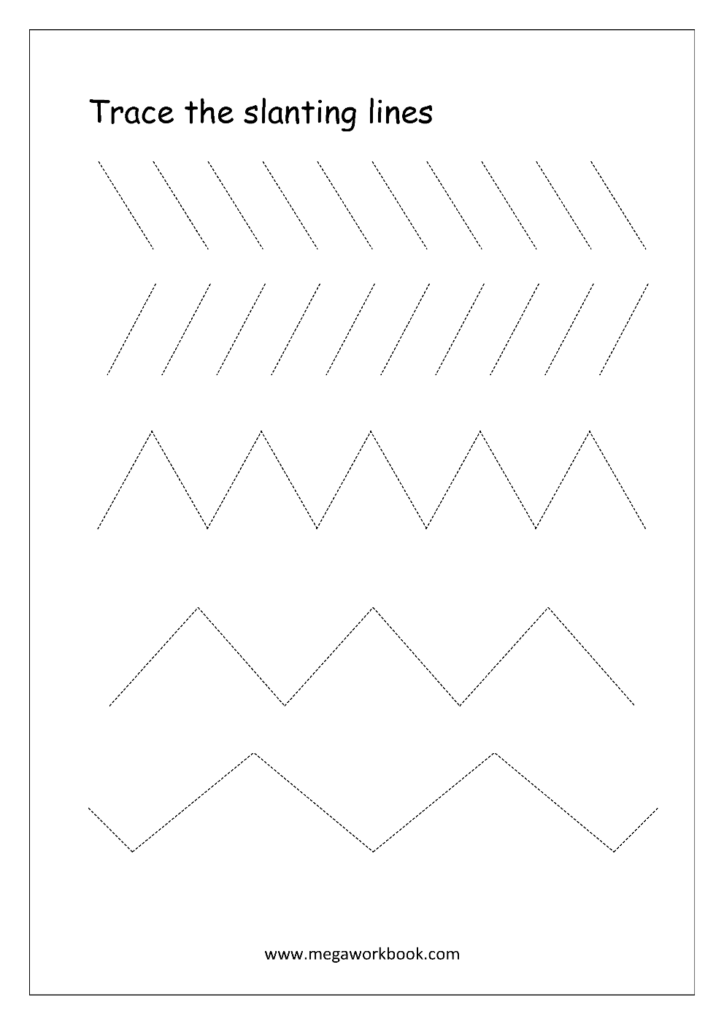Pre Writing Worksheets Line And Curvecing Generator Cursive