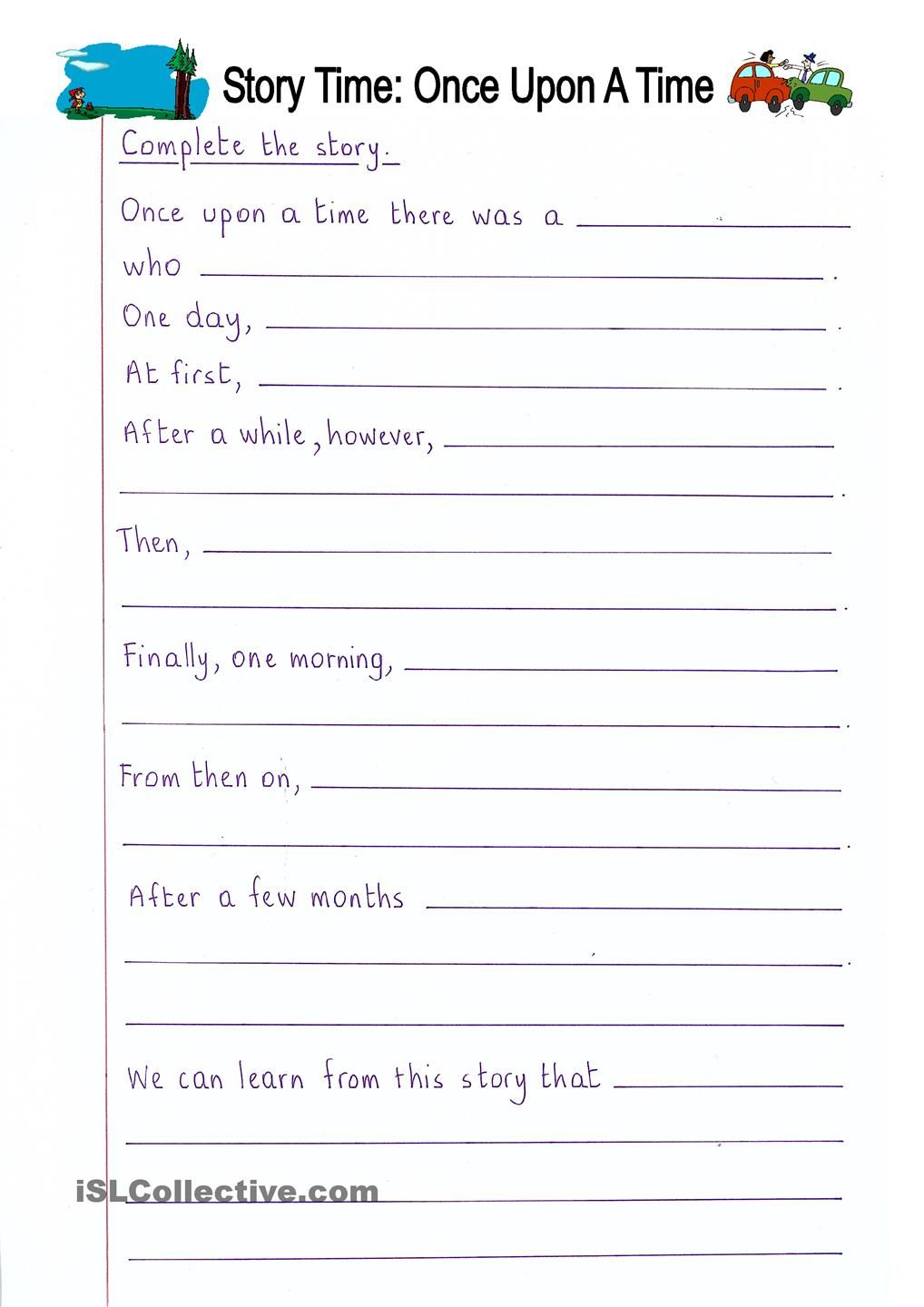 Creative Writing Worksheets For Class 3