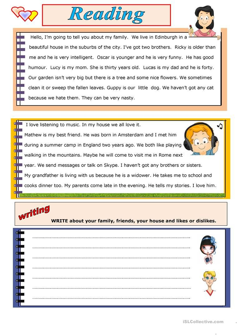 Reading And Writing Worksheets Pdf