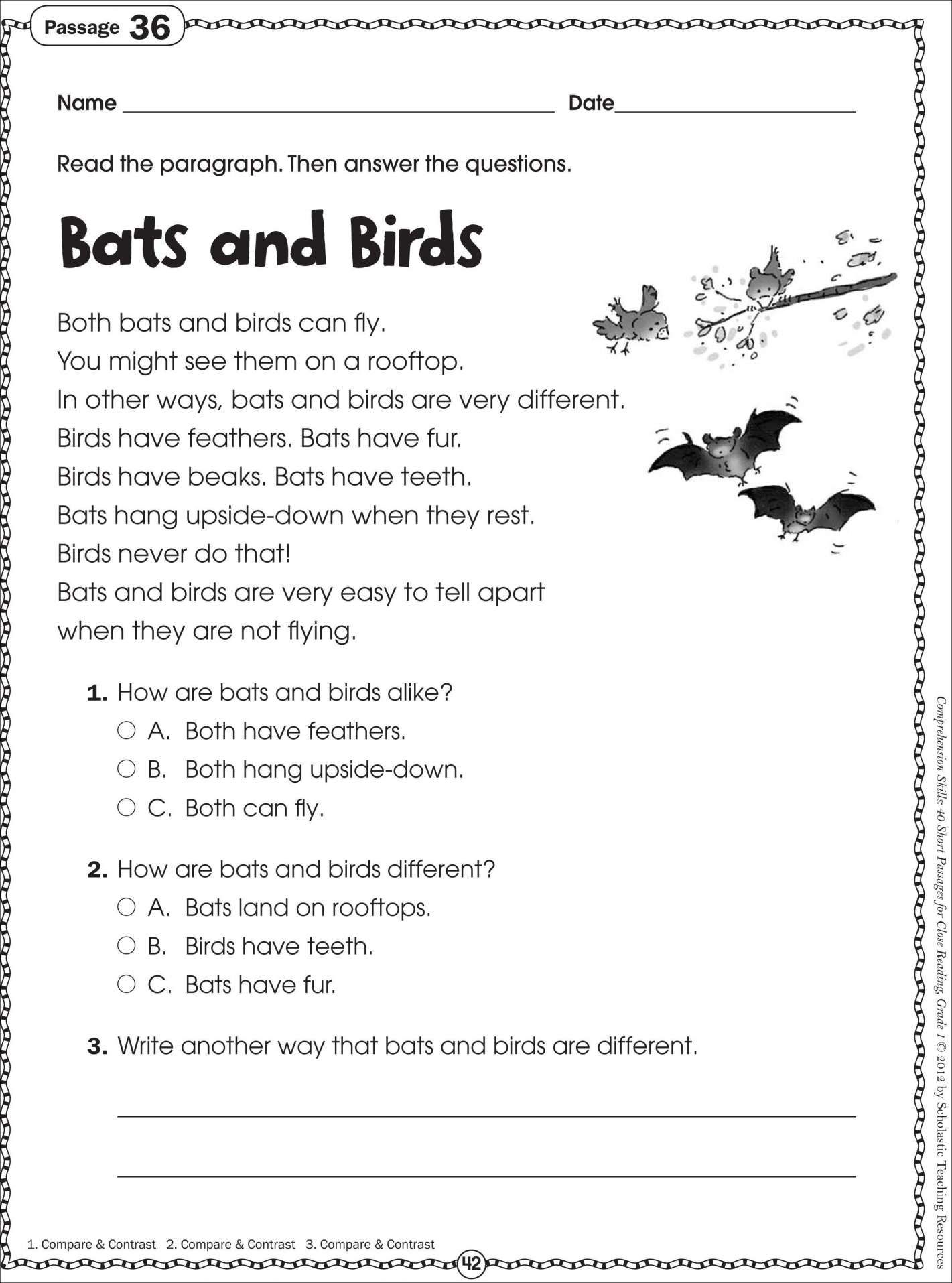 Reading Exercises For 2Nd Graders