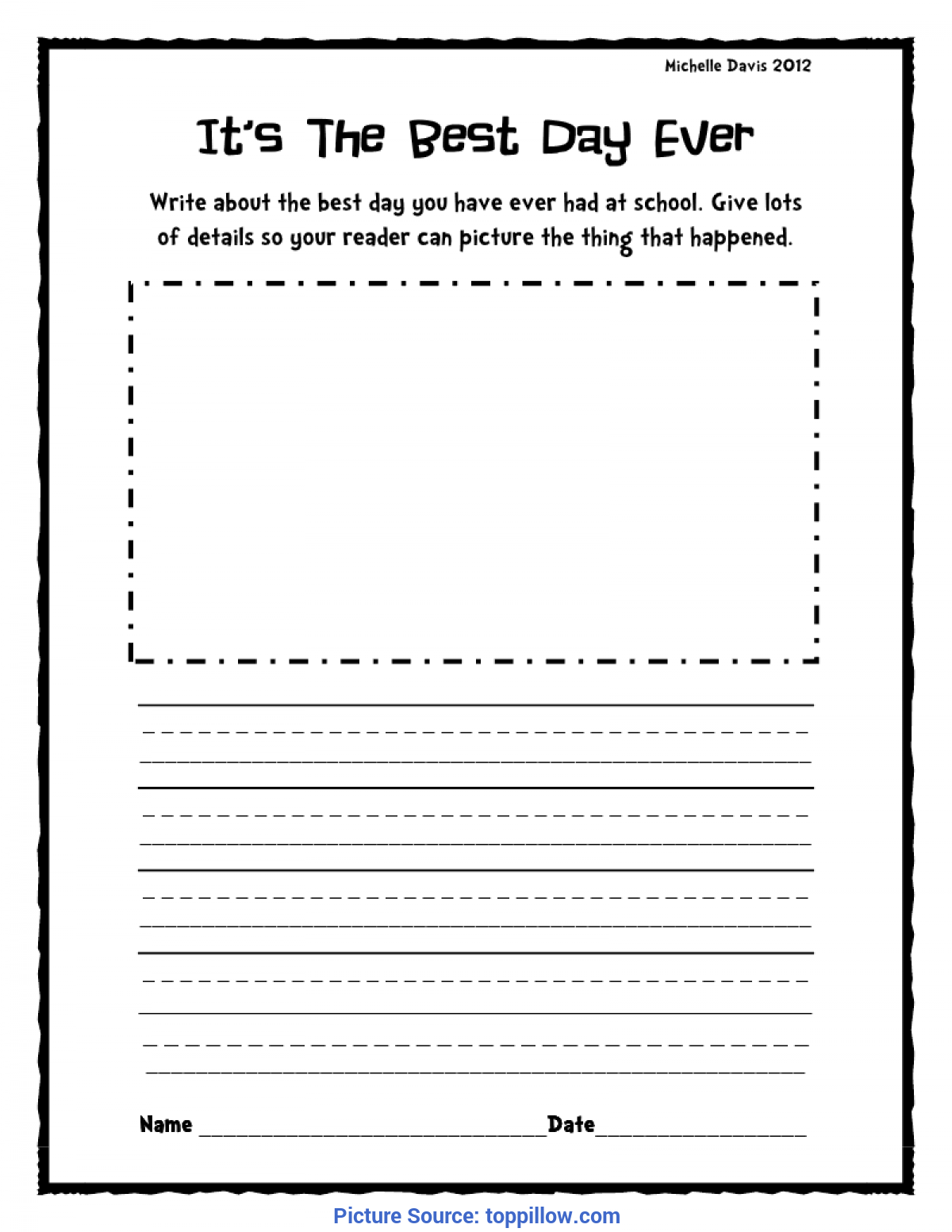 Second Grade Writing Prompts Worksheets