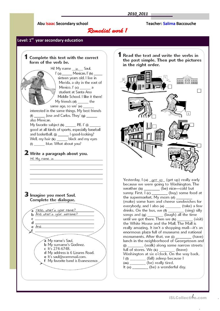 Remedial Writing Worksheets
