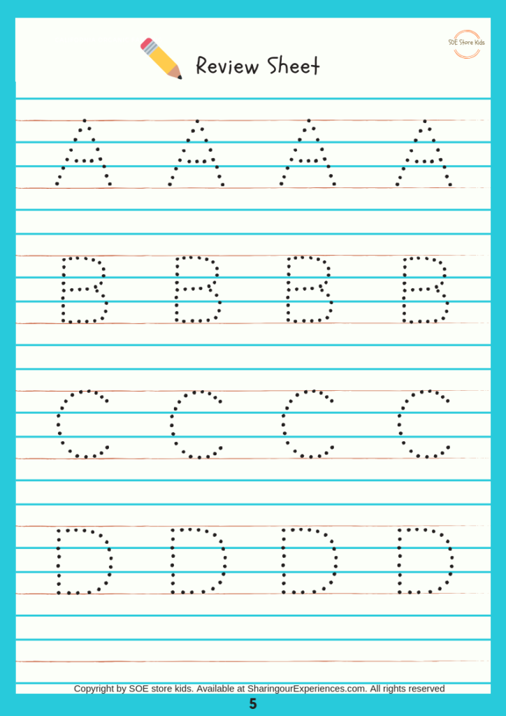 Soe Store Kids Capital Alphabets Writing Activity Book For