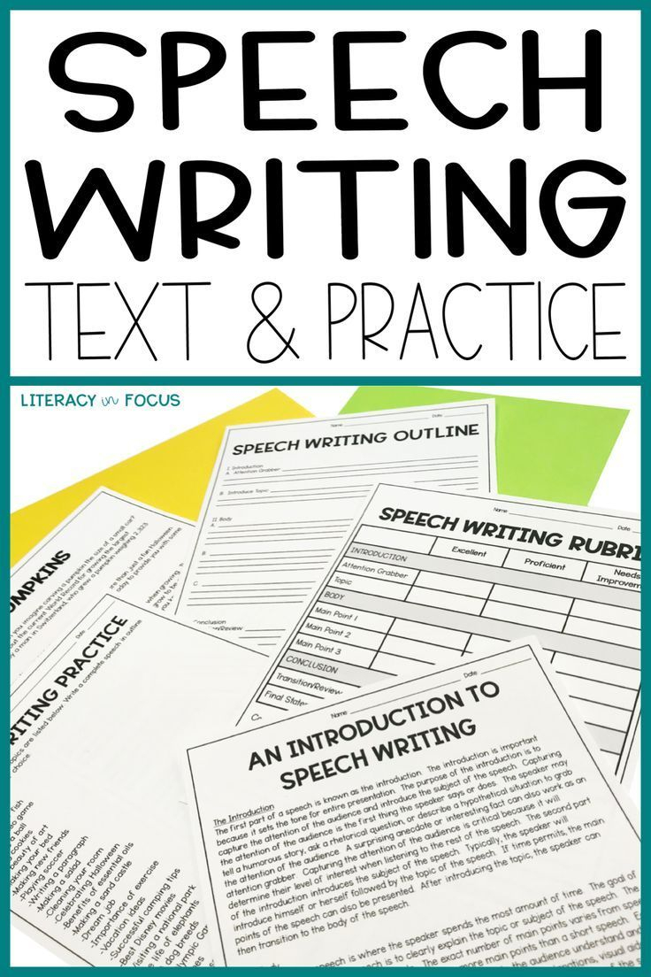 Writing A Speech Lesson Plan Worksheets