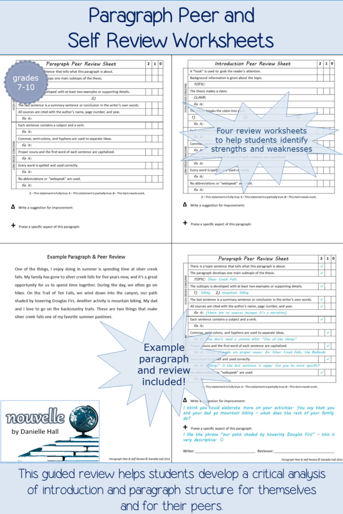 These Worksheets Help Students Review Introductions And Body