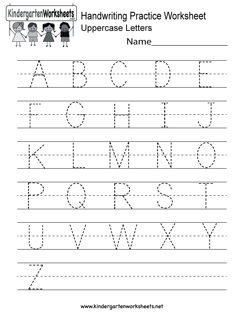 This Is A Handwriting Practice Worksheet For Uppercase