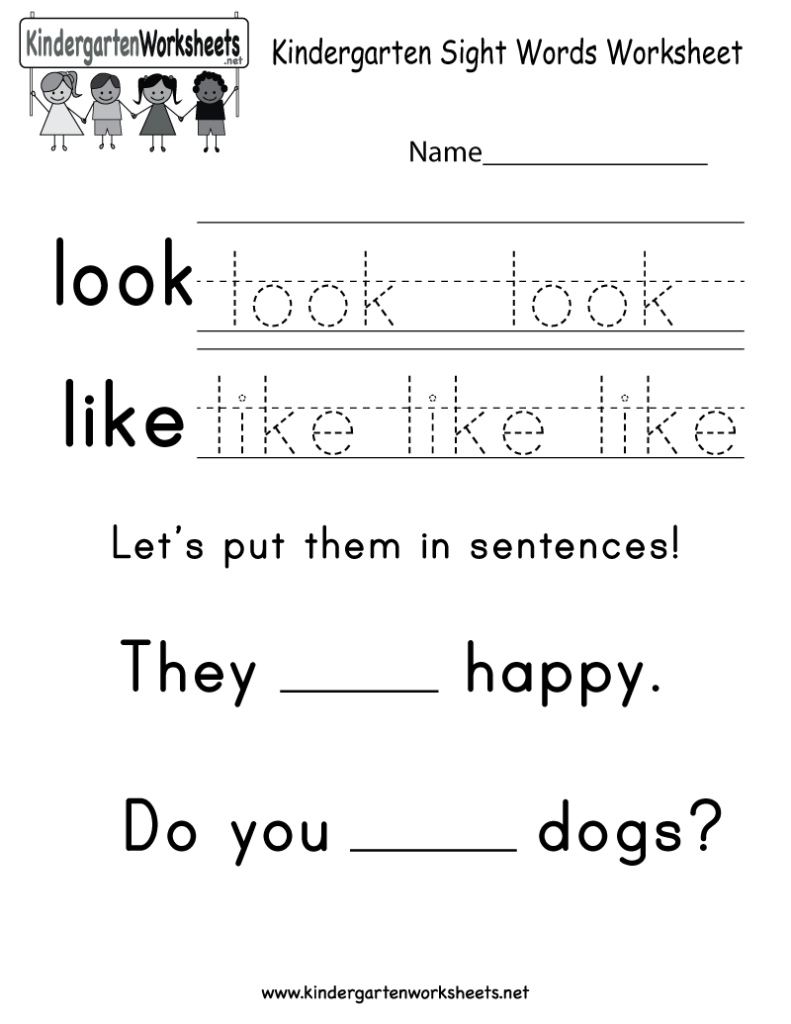 """This Is A Sight Word Worksheet For The Words """"look"""" And"""