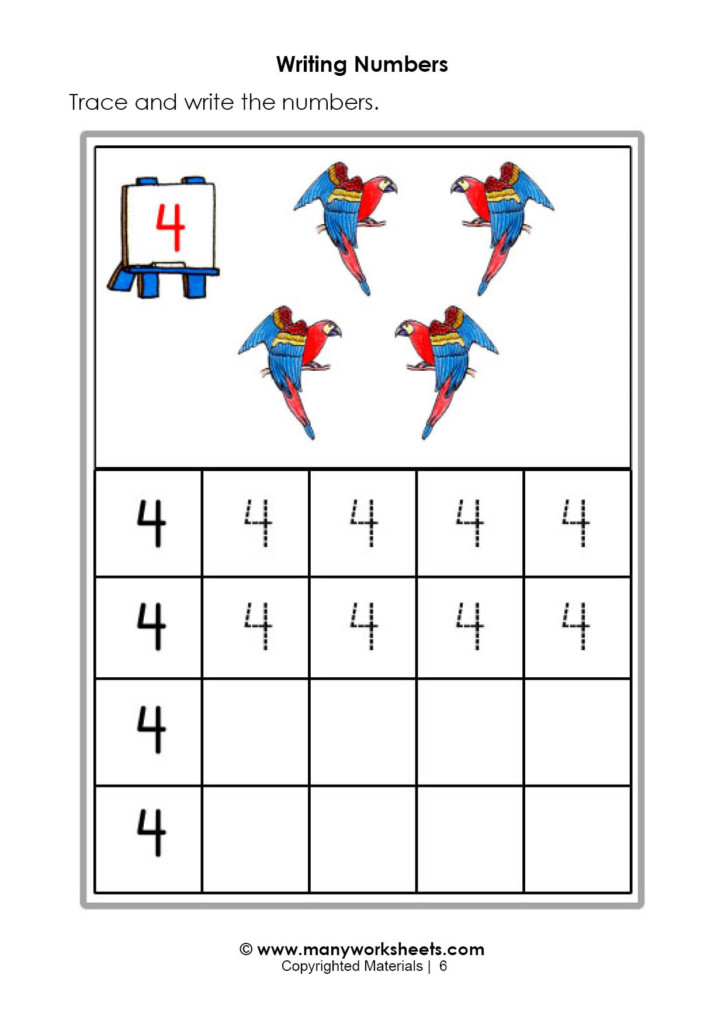 Tracing And Writing Number Worksheets Numbers Kindergarten