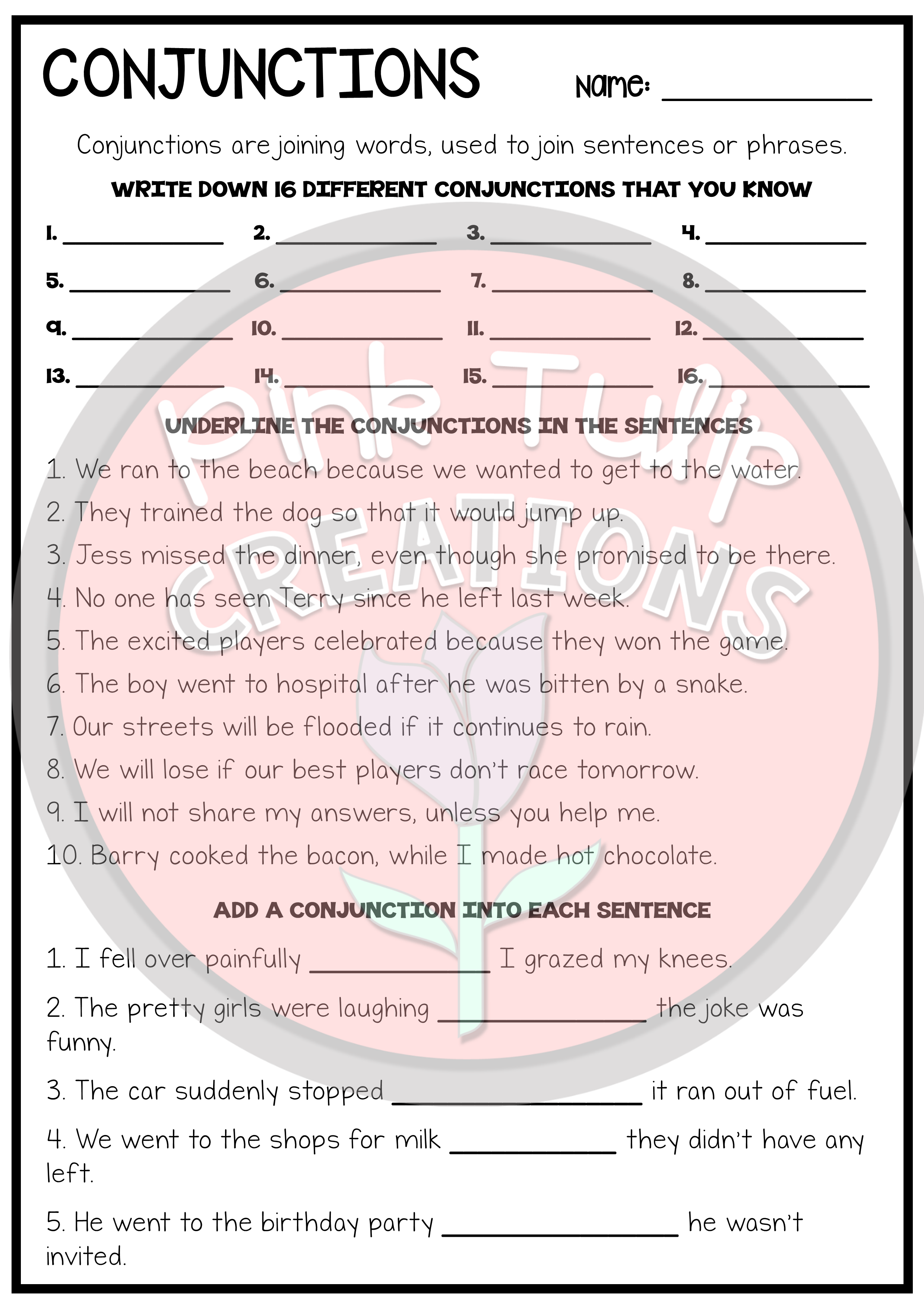 Two Grammar Worksheets To Help Students Learn & Practice