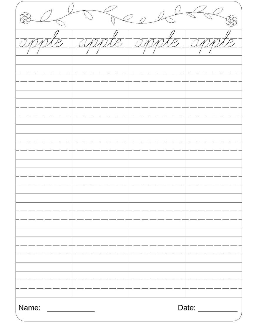 Worksheet ~ Freeive Writing Practice Pages Worksheets