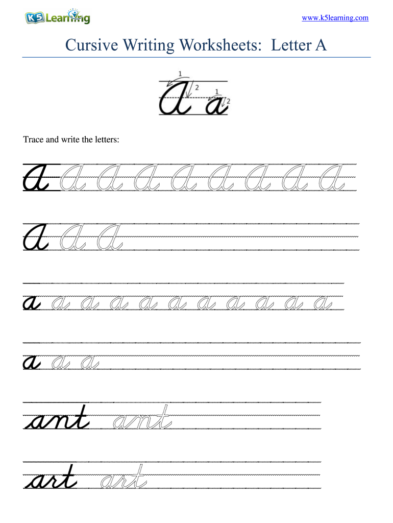 Cursive Writing Small Letters Worksheets Pdf