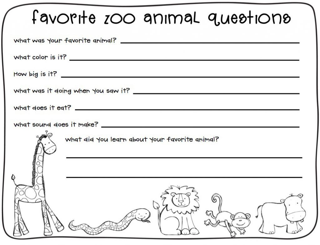 Worksheets : Grade Writing Worksheets Zoo Lessons Animals