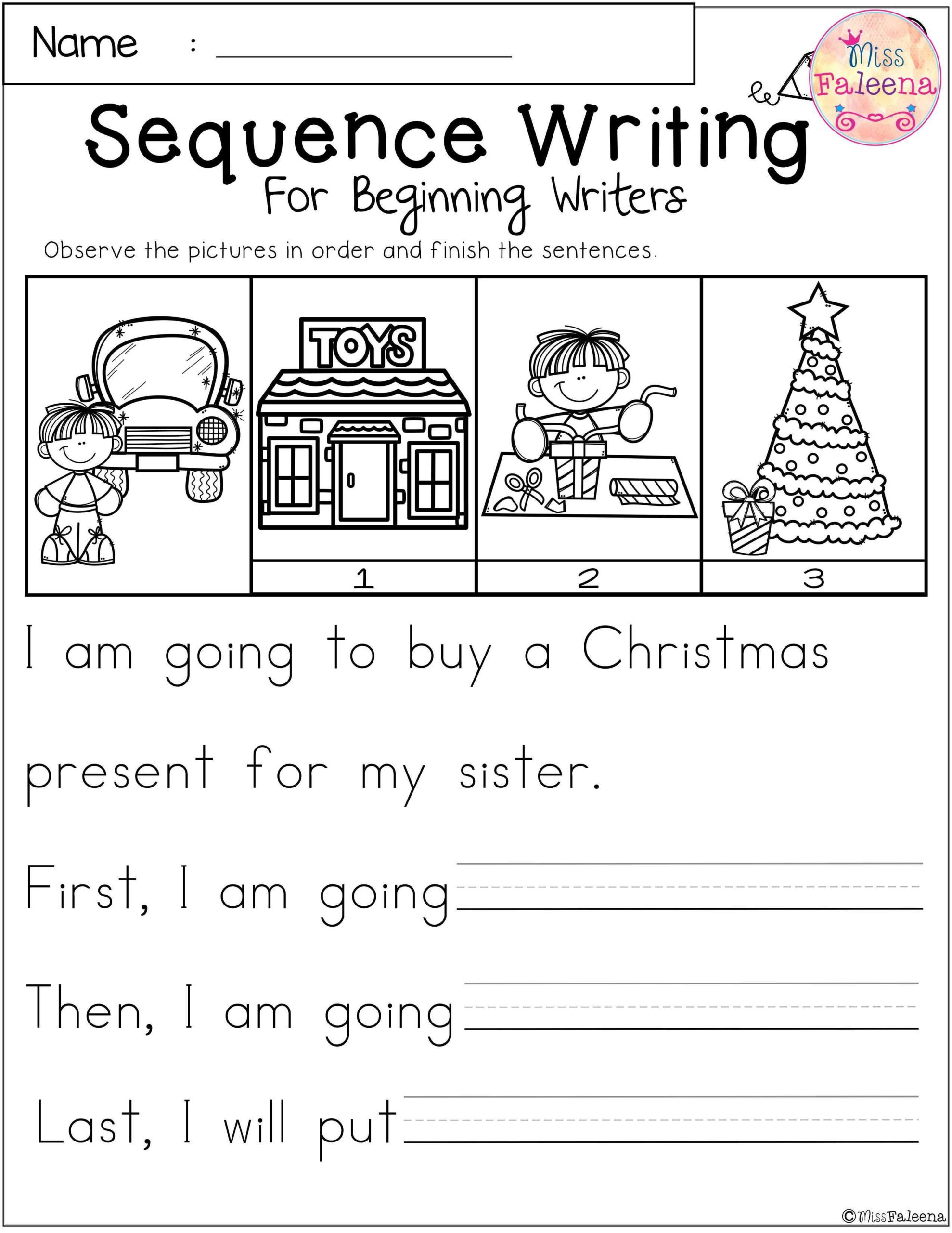 Worksheets : Sequence Writing For Beginning Writers