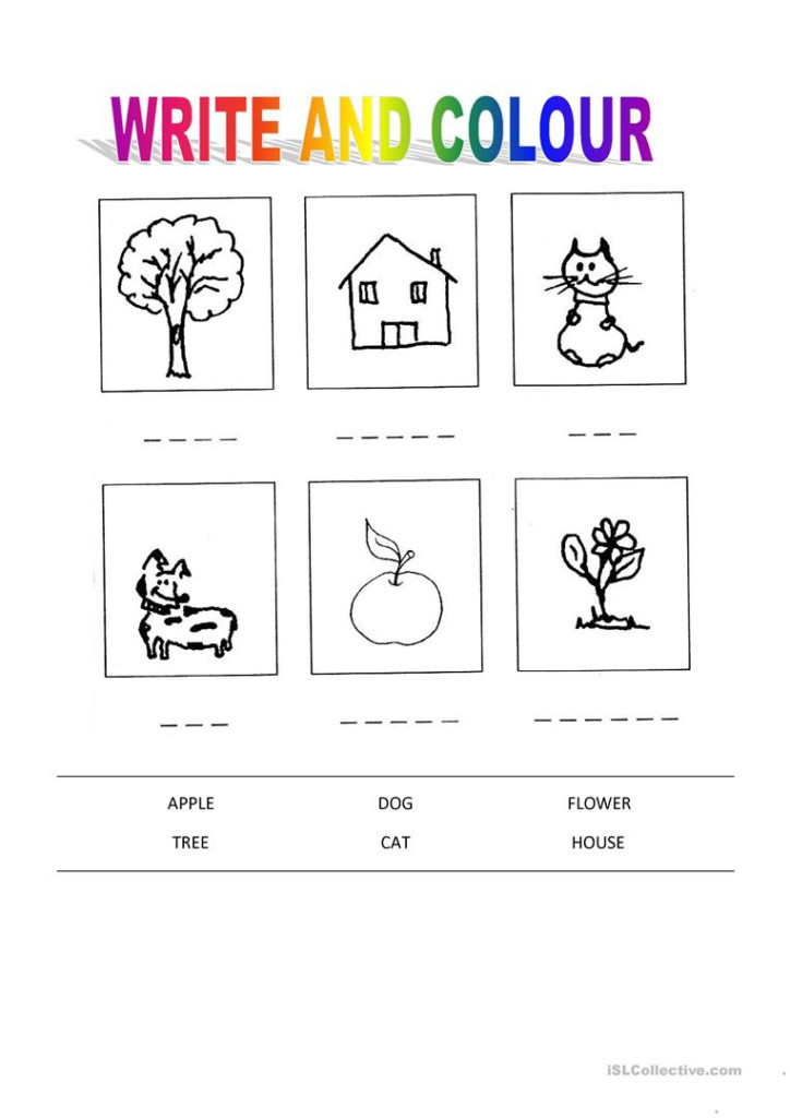 Write And Colors   English Esl Worksheets For Distance