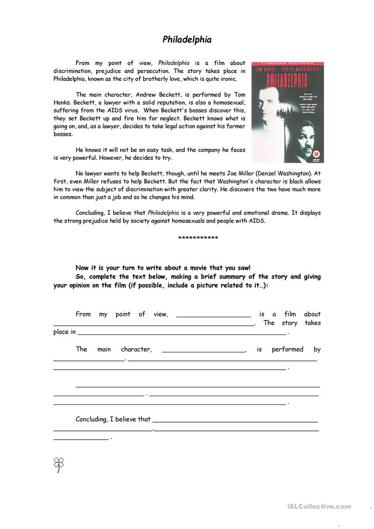 Writing A Film Review - English Esl Worksheets For Distance